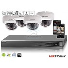 Hikvision IP kit 4x dome HD camerabewaking set