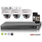 Hikvision IP kit 3x dome 3mp HD camerabewaking set